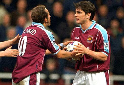 Di Canio e Lampard litigano per il rigore - foto by Premier League - Twitter