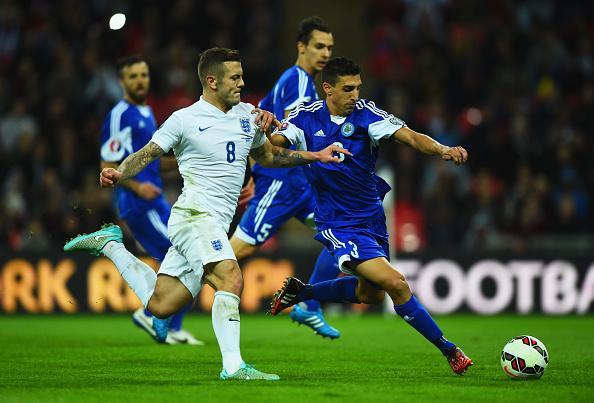 Azione di gioco Inghilterra-San Marino
