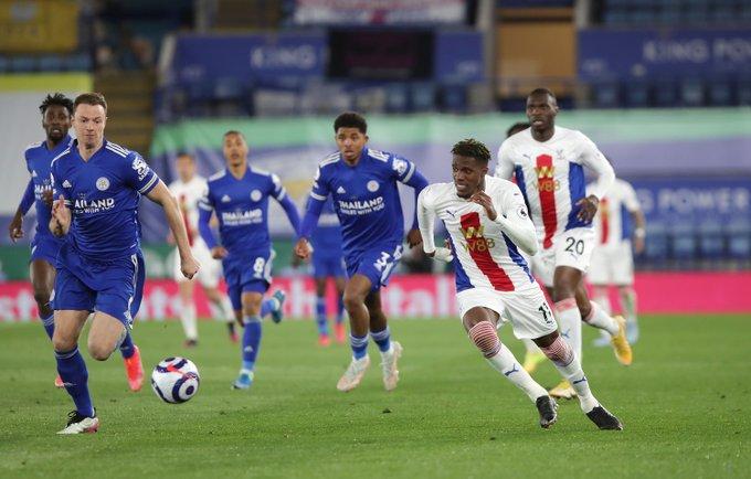 Azione di gioco Leicester-Crystal Palace